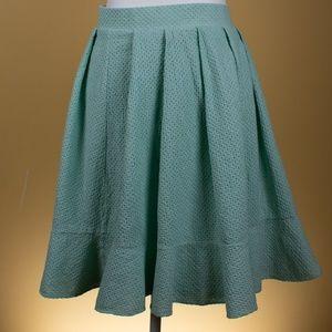 Torrid Mint Green Pleated Textured Skirt